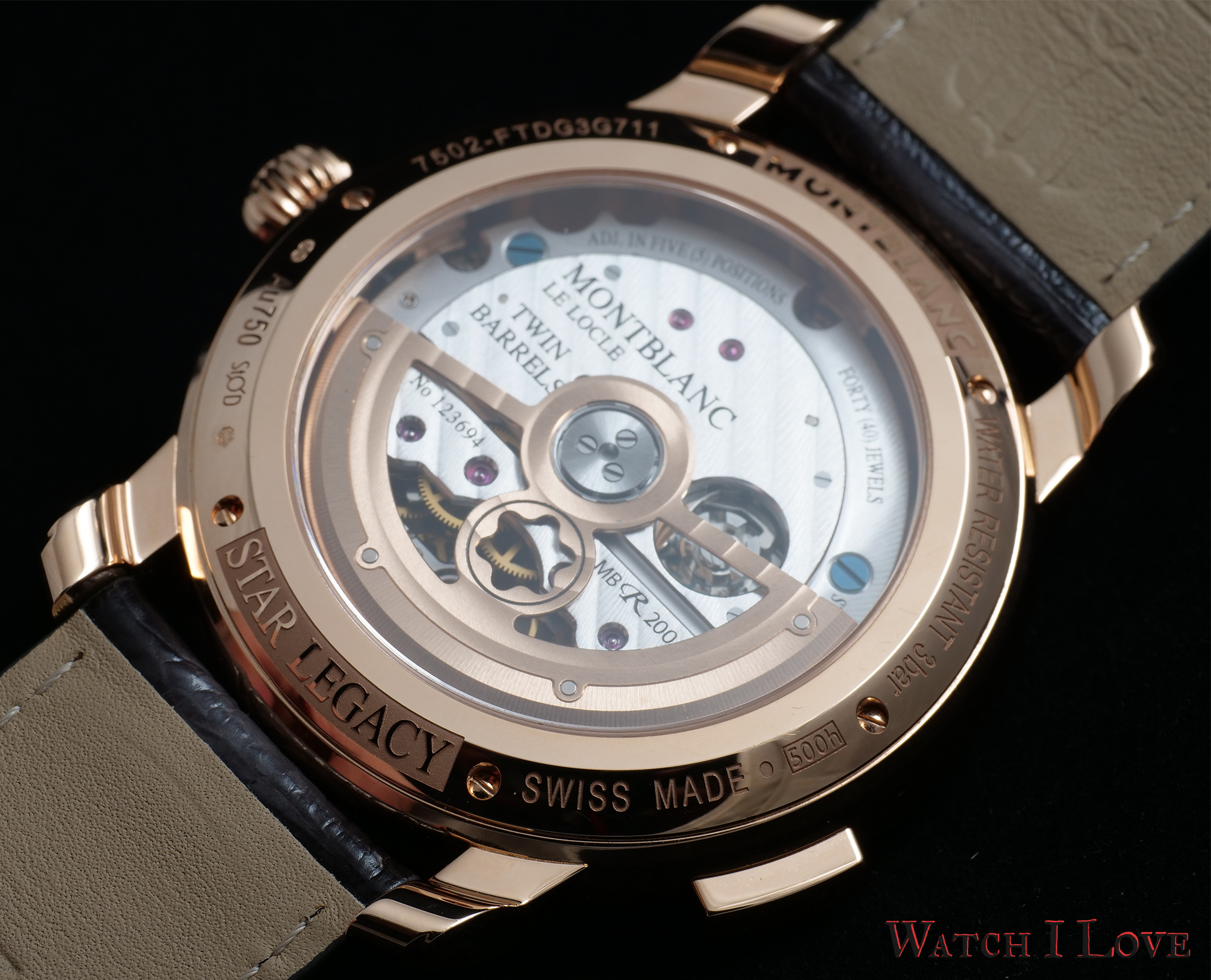 Montblanc Star Legacy Nicolas Rieussec Chronograph back view