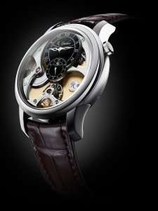 Romain Gauthier Micro-Rotor white gold limited editions black enamel