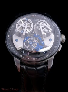 Angelico in titanium with blue sapphire