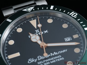 EDOX-SkyDiver-Military-dial-detail-up
