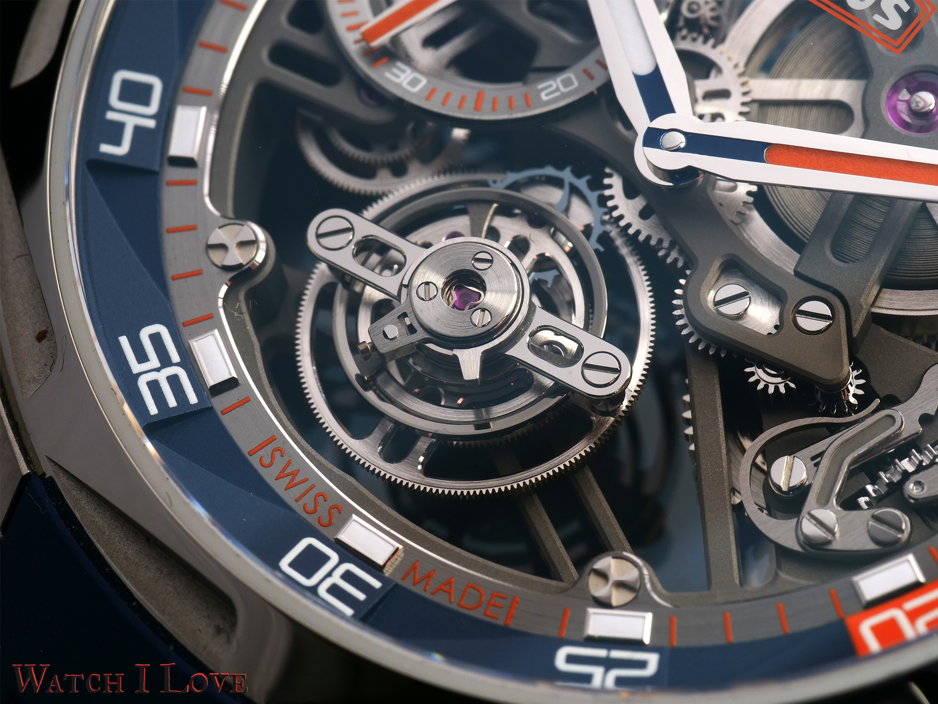 The tourbillon cage is nicely decorated