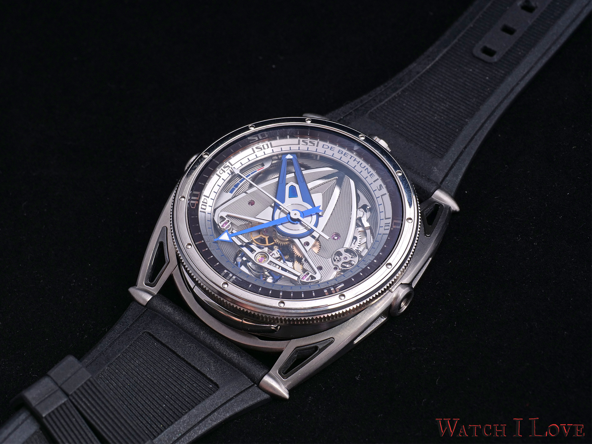 Front view of De Bethune DB28GS Grand Bleu