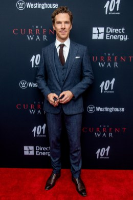 """NEW YORK, NEW YORK - OCTOBER 21: Actor Benedict Cumberbatch attends """"The Current War"""" New York Premiere at AMC Lincoln Square Theater on October 21, 2019 in New York City. (Photo by Roy Rochlin/Getty Images)"""