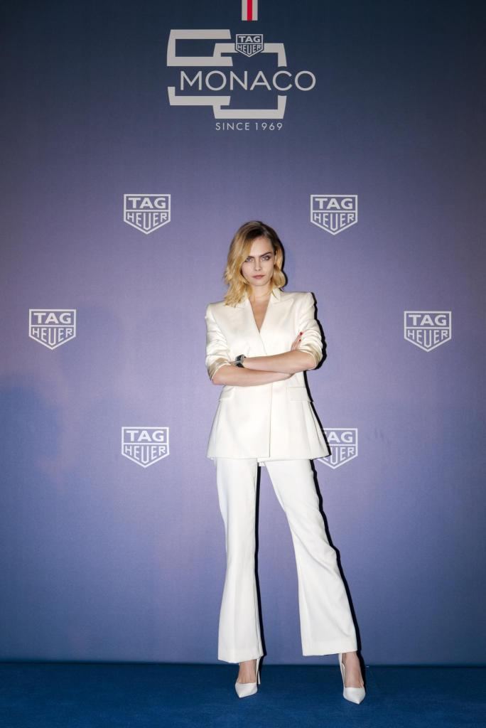 Monaco 5th limited editon launch in Shanghai with Cara Delevingne