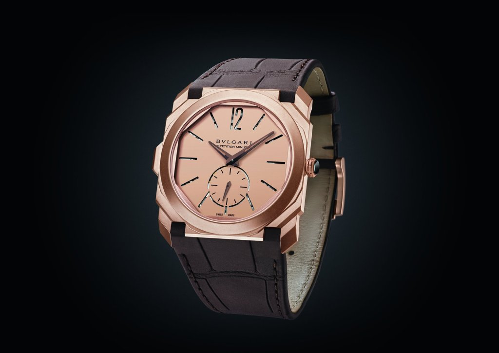 Octo Finissimo Minute Repeater in sandblasted rose gold 103279