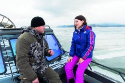 Voyage of discovery Anastasia (left) is leading the work of the Lake Baikal Foundation