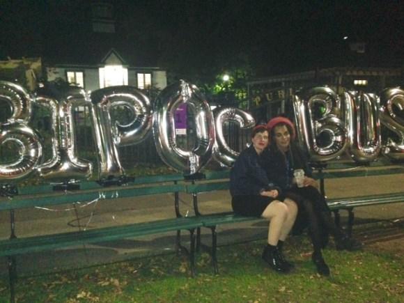 BIPOC Bus coordinators, Camilla Salcedo and Jade Peek at the Public Gardens. (Photo: Josefa Cameron)