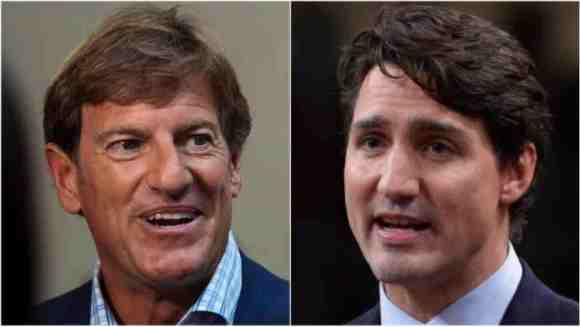 Stephen Bronfman, left, is the chief fundraiser for the Liberal Party and a long-time friend of Prime Minister Justin Trudeau, right (Andrew Vaughan/Adrian Wyld/Canadian Press)