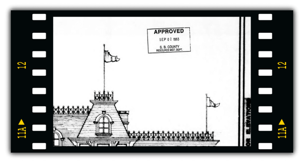 Neverland Train Station Permits approved september 1993