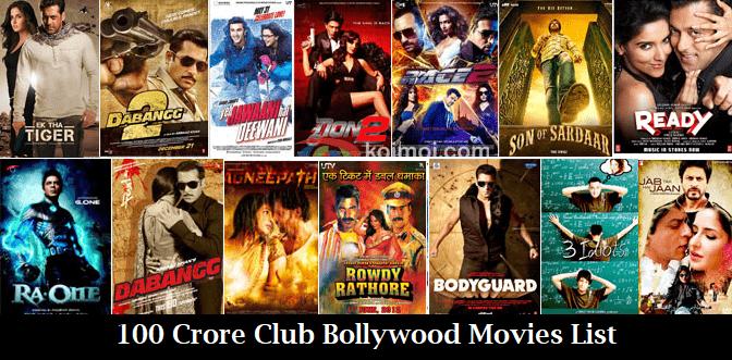 100 Crore Club Bollywood Movies List