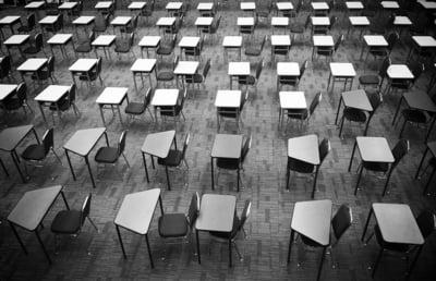 exam room with desks