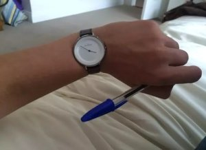 watch on left hand