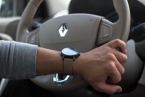 mvmt brand watch on man's wrist