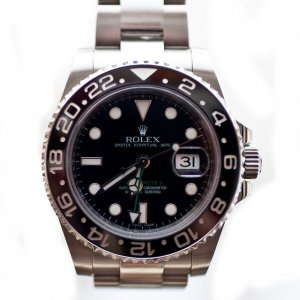 stainless steel watch by Rolex