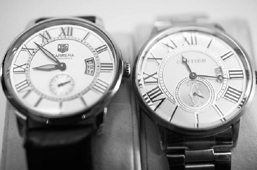 Carrera and Cartier watches