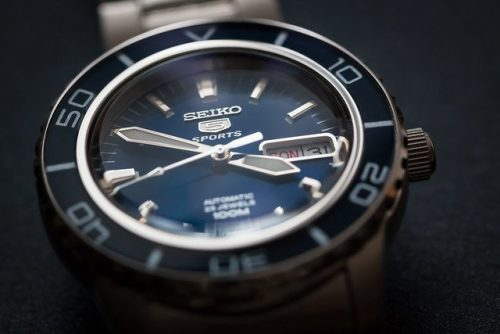 seiko watch close up