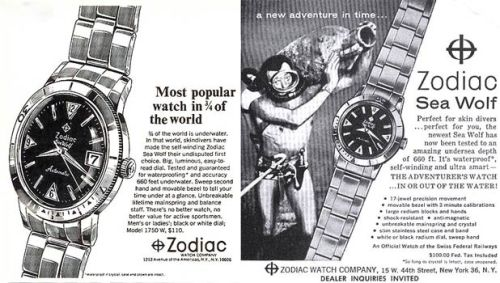 old zodiac watch advertisement