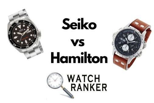 seiko and hamilton watches side by side