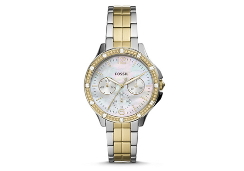 Fossil Finley Multifunction Two-Tone Stainless Steel (ES4789P)