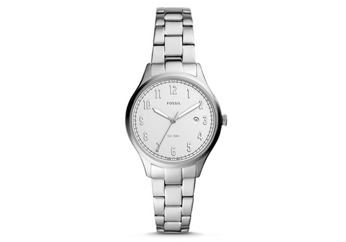 Fossil Lady Forrester Three-Hand Date Stainless Steel (ES4868P)