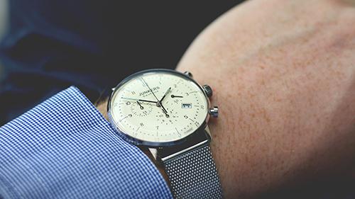 Person wearing Junkers watch