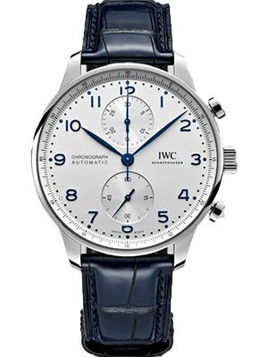 IWC Portugieser Chronograph Blue Strap