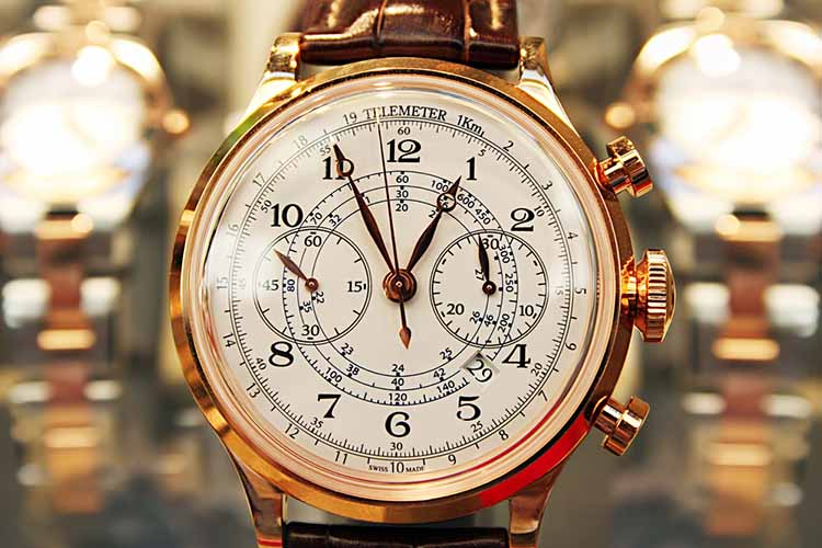 elegant expensive watch in store