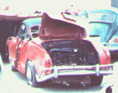 Carlton's car after the accident on February 21, 1970