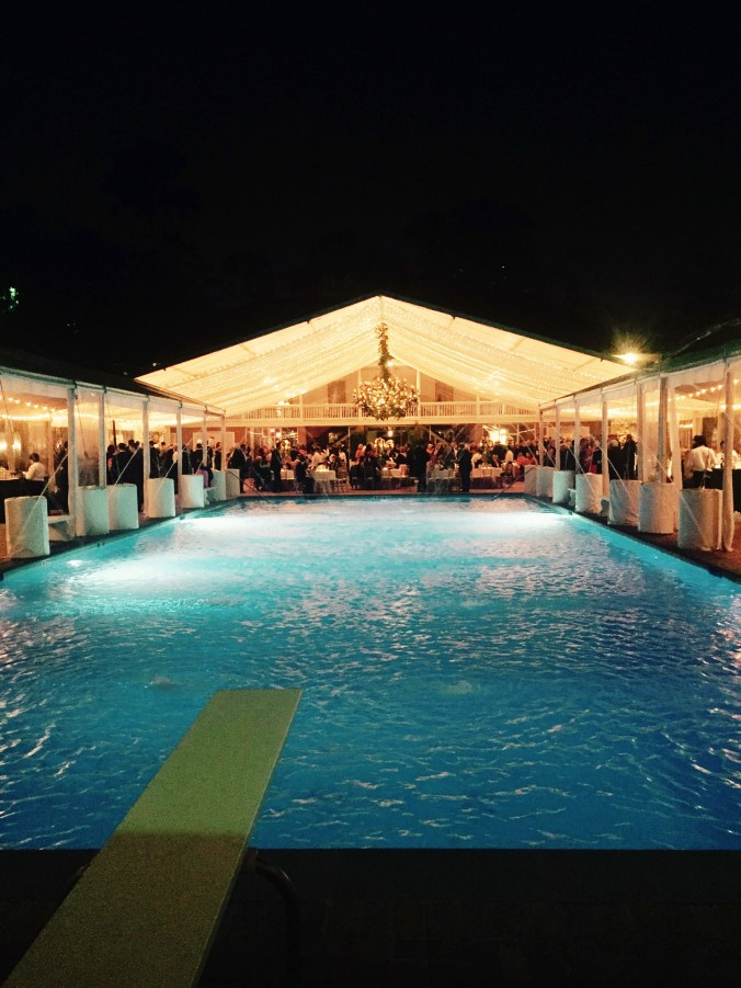 Open air tent and pool