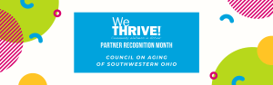 reads We Thrive partner recognition month council on aging of southwestern ohio