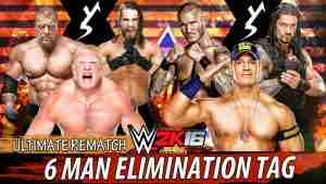 Watch WWE 6 Man Elimination Tag Elimination Chamber Online Free