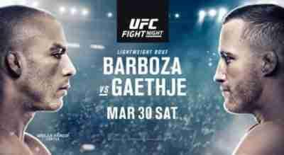 Watch UFC On ESPN 2 Barboza Vs Gaethje 03/30/2019