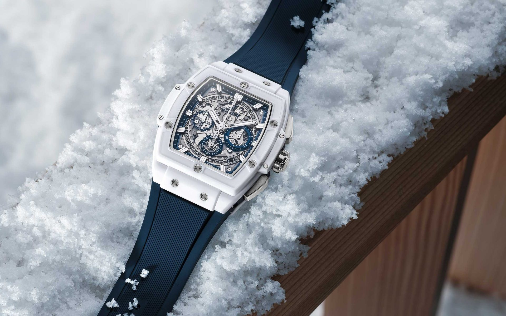 Hublot Spirit of Big Bang in the snow