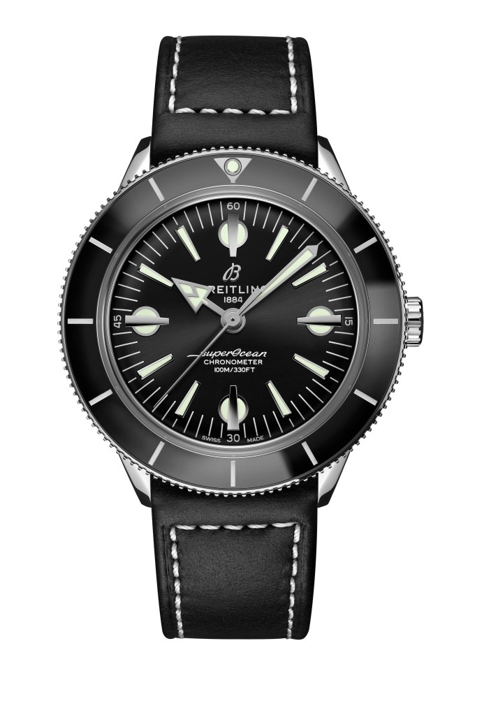 04 Superocean Heritage 57 With A Black Dial And A Black Vintage Inspired Leather Strap Ref A10370121b1x1 713x1024