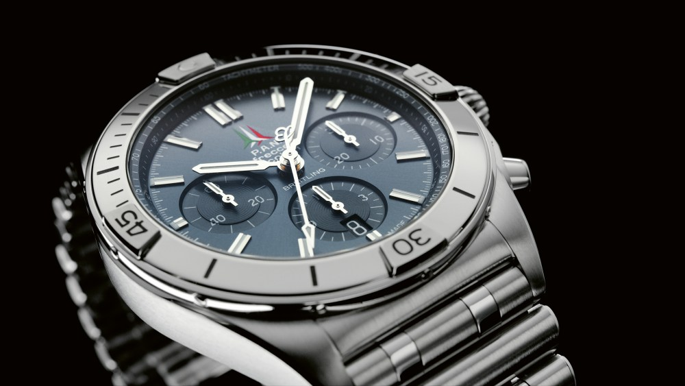 11 Chronomat B01 42 Frecce Tricolori Limited Edition With A Blue Dial And Tone On Tone Chronograph Counters 1024x576