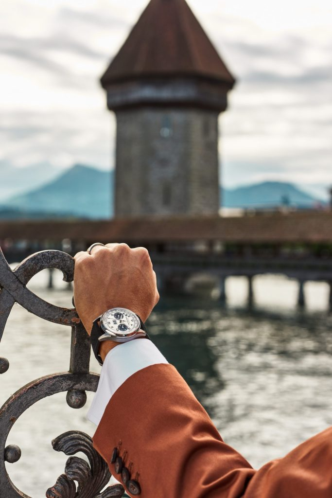 On The Famous Chapel Bridge Blake Scott Wearing Our Heriage Bicompax Annual Scaled
