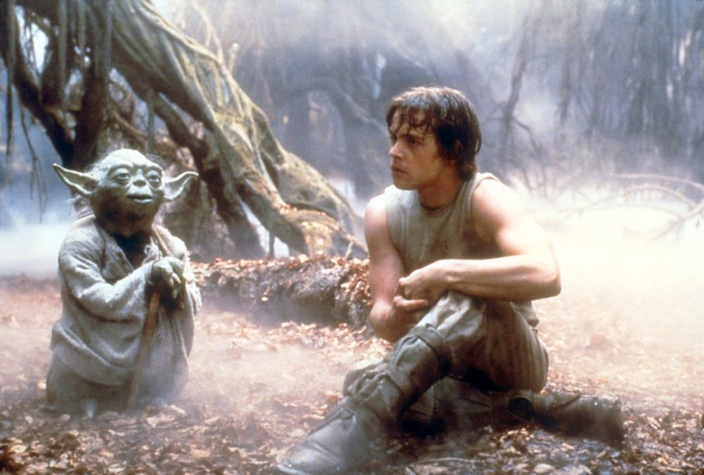 Yoda and Luke Skywalker in The Empire Strikes Back.LUCASFILM LTD./EVERETT COLLECTION