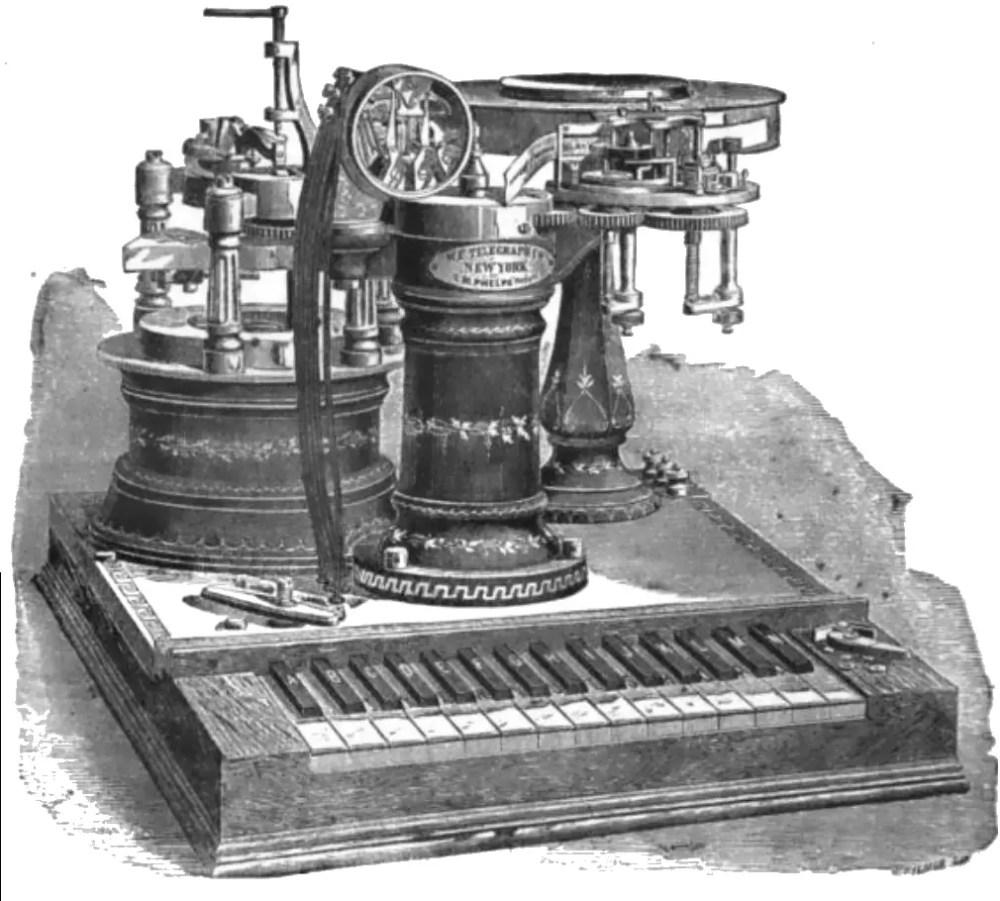 Phelps Electro Motor Printing Telegraph
