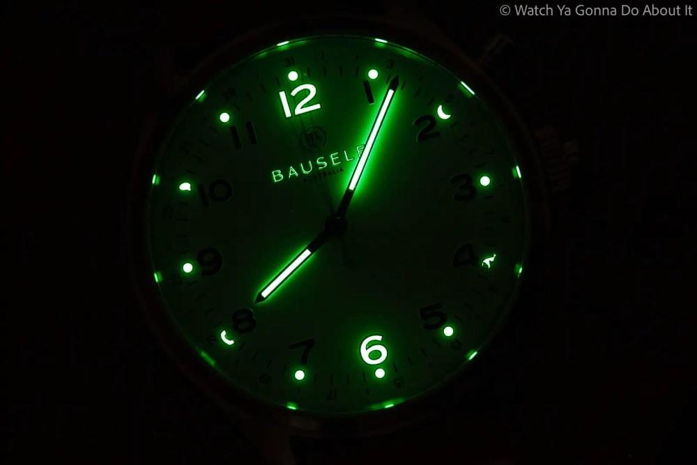 Bausele Vintage 2.0 Watch lume