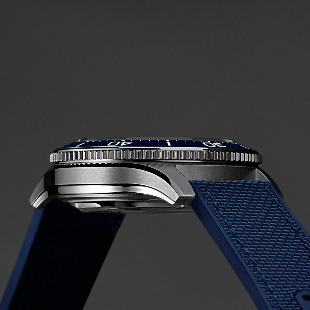 Christopher Ward Sapphire Wave side view new Christopher Ward C60 BLUE
