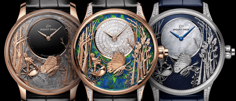 new Jaquet Droz Loving Butterfly Automaton