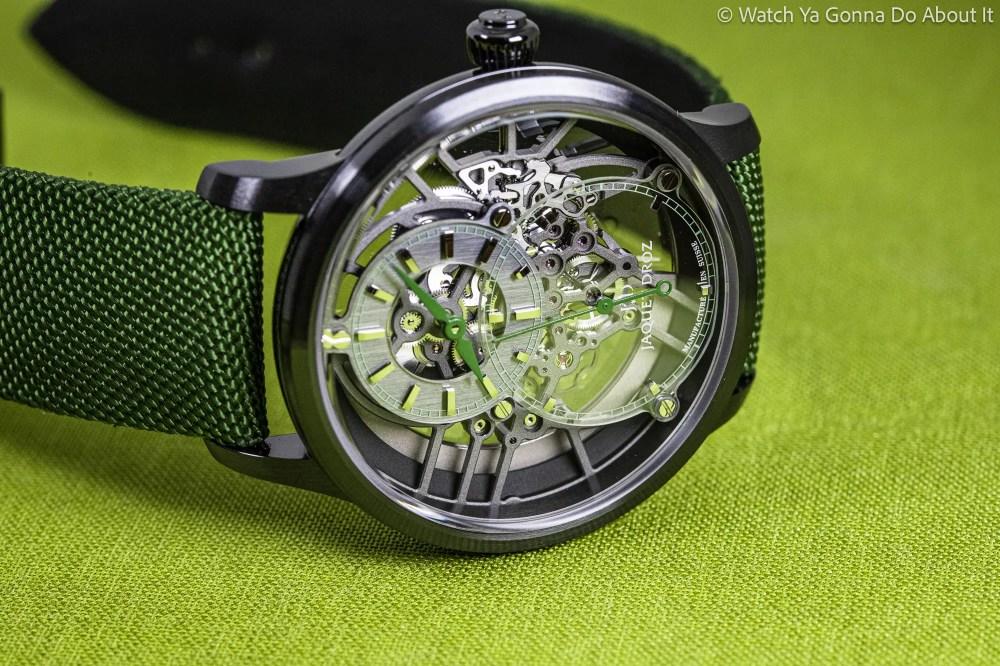New Jaquet Droz Grande Seconde Skelet-One Ceramic Green