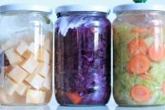 Drie x gefermenteerde groente