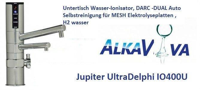 unter-der-spc3bcle wasserionisierer Jupiter Ultra-Delphi-IO400U : DARC -2 X AutoSelbtreinigung,5 elektroden MESH, H2 wasser