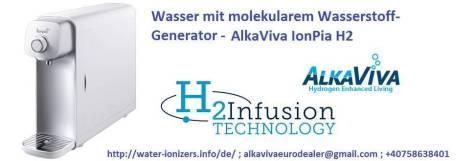 wasser mit wasserstoff generator alkaviva ionpiah2