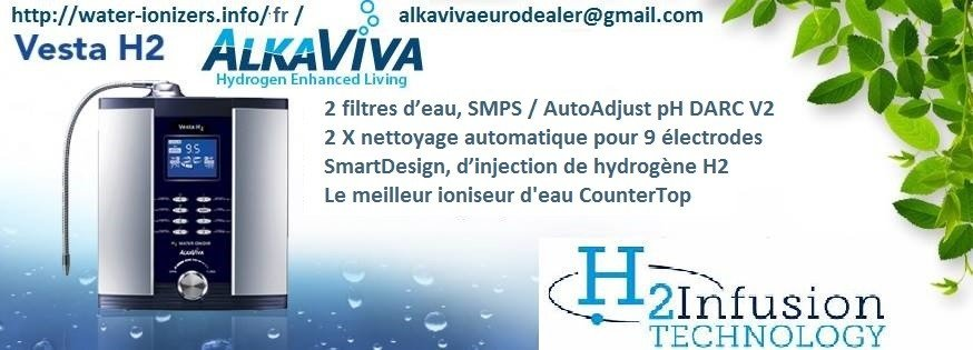 ioniseur d'eau AlkaViva vesta H2