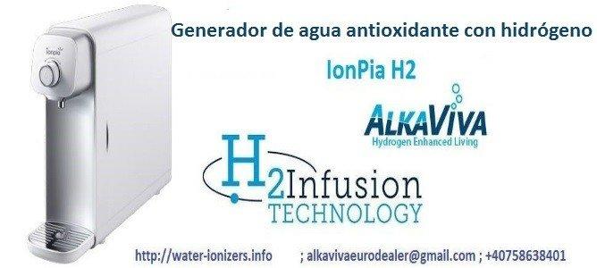 generador de agua antioxidante con hidrogeno AlkaViva IonPia H2