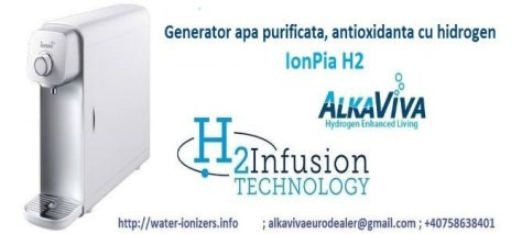 generator apa hidrogenata/apa hidrogenizata/apa cu hidrogen AlkaViva IonPia H2 668300