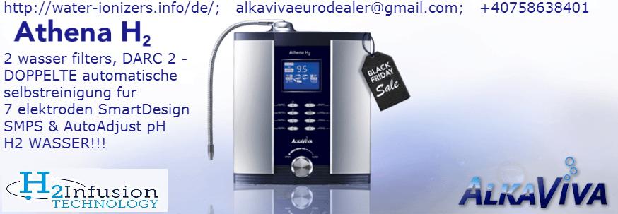AlkaViva Athena H2 Wasserstoffinfusion Wasser-Ionisator Reiniger (2 wasser filters)