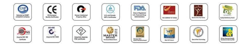 AlkaViva h2 water ionizers certifications